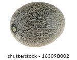 cantaloupe melon isolated on... | Shutterstock . vector #163098002