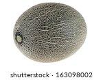 cantaloupe melon isolated on... | Shutterstock . vector #163098002