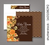 wedding invitation card with... | Shutterstock .eps vector #163108292