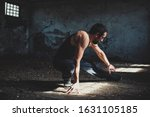 athletic young man exercise in... | Shutterstock . vector #1631105185