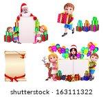 christmas design set | Shutterstock . vector #163111322