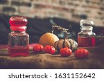 Halloween Decoration On Table...