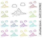 mountain multi color icon....