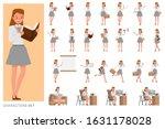 set of teacher woman people...   Shutterstock .eps vector #1631178028