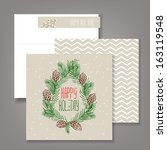 merry christmas and happy new...   Shutterstock .eps vector #163119548