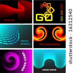 business card or logo collection | Shutterstock .eps vector #16312540