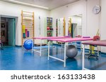 empty room in physiotherapy... | Shutterstock . vector #163133438