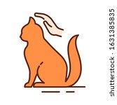 cat care color line icon....