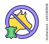cruelty free color line icon....