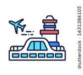 airport color line icon....