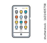 mobile ui design color line...