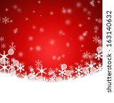 christmas red background | Shutterstock . vector #163140632