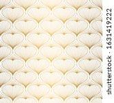 valentine background. art deco... | Shutterstock .eps vector #1631419222