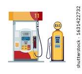 gas or petrol station. gasoline ... | Shutterstock .eps vector #1631422732
