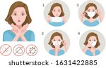 woman gag with worry gesture.... | Shutterstock .eps vector #1631422885