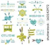 wedding graphic set  arrows ...   Shutterstock .eps vector #163142972