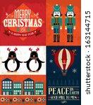 christmas template vector...   Shutterstock .eps vector #163144715