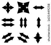 set of arrow icons on a white...