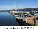 Sail Boats At The Boat Marina...