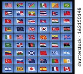 a collection of national flags... | Shutterstock . vector #163150148