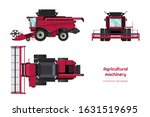 isolated combine harvester.... | Shutterstock .eps vector #1631519695