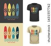 surf wear typography emblem.... | Shutterstock .eps vector #1631557762
