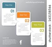 design clean number banners... | Shutterstock .eps vector #163158566