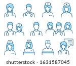 doctor flat line icons.... | Shutterstock .eps vector #1631587045