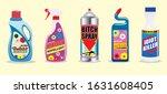 funny toilet cleaner  repellent ... | Shutterstock .eps vector #1631608405