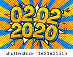 2 february 2020 banner. numbers ... | Shutterstock .eps vector #1631621515