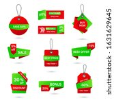 vector stickers  price tag ... | Shutterstock .eps vector #1631629645