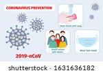 coronavirus prevention concept. ... | Shutterstock .eps vector #1631636182
