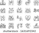 idol line icon set. included... | Shutterstock .eps vector #1631692342