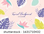 vector background with tropical ... | Shutterstock .eps vector #1631710432