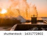 Big Waves Crashing Against The...