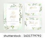 watercolor wedding set. set of... | Shutterstock .eps vector #1631779792
