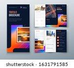 tri fold brochure design with... | Shutterstock .eps vector #1631791585