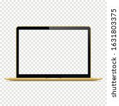 isolated gold laptop with... | Shutterstock .eps vector #1631803375