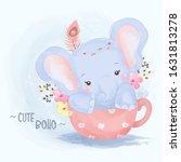 cute animals  watercolor...   Shutterstock .eps vector #1631813278