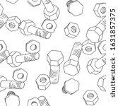 bolt and nut seamless pattern.... | Shutterstock .eps vector #1631857375