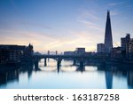 london skyline from the... | Shutterstock . vector #163187258