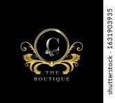 c letter golden  circle luxury  ... | Shutterstock .eps vector #1631903935