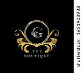g letter golden  circle luxury  ... | Shutterstock .eps vector #1631903938
