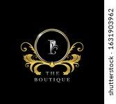 i letter golden  circle luxury  ... | Shutterstock .eps vector #1631903962