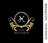 x letter golden  circle luxury  ... | Shutterstock .eps vector #1631903968