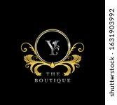 x letter golden  circle luxury  ... | Shutterstock .eps vector #1631903992