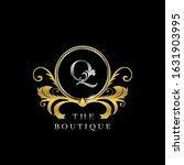 q letter golden  circle luxury  ... | Shutterstock .eps vector #1631903995
