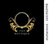 frame letter o  golden  circle... | Shutterstock .eps vector #1631903998