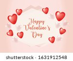 cute red valentine's day card ...   Shutterstock .eps vector #1631912548