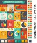 vector pie chart infographic... | Shutterstock .eps vector #163195445